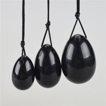 Load image into Gallery viewer, Black Obsidian Stone Vaginal Yoni Egg Pack