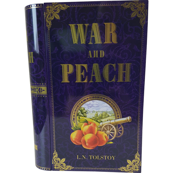 War and Peach Tea Tin