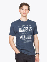 Books Turn Muggles Into Wizards T-Shirt - Calgary Public Library Store