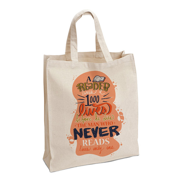 Literary Quote Large Tote