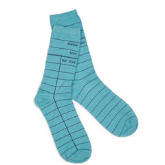 Library Card Blue Socks - Calgary Public Library Store