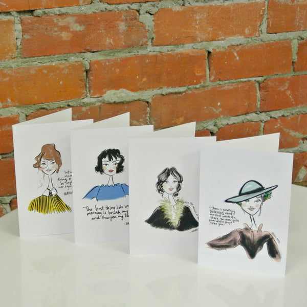 Women of Literature: Rachael Meckling Greeting Cards