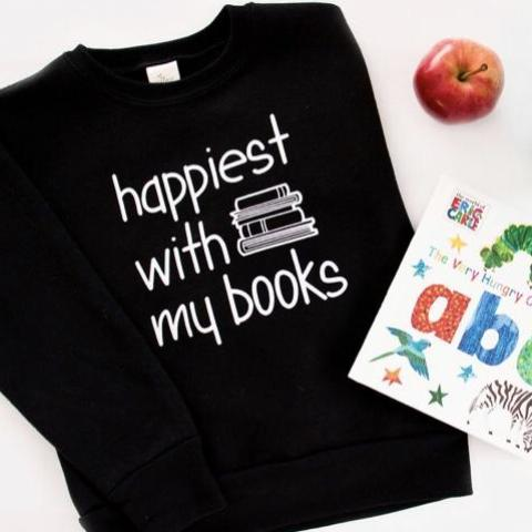 Happiest with my Books - Kids Sweater