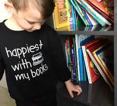 Happiest with my Books - Kids Sweater - Calgary Public Library Store