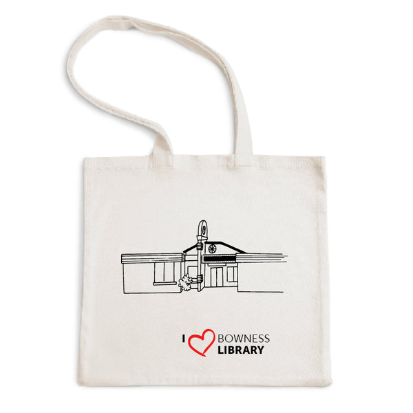 I Love Bowness Library Tote Bag
