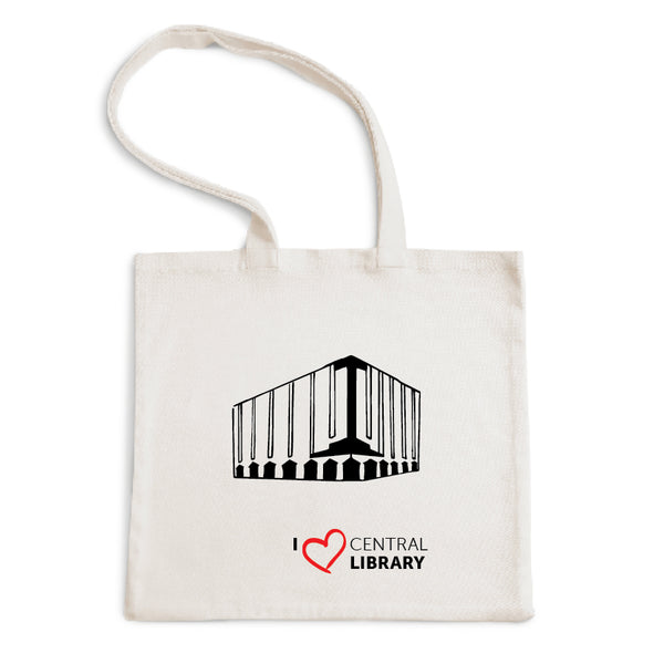 I Love Central Library Tote Bag