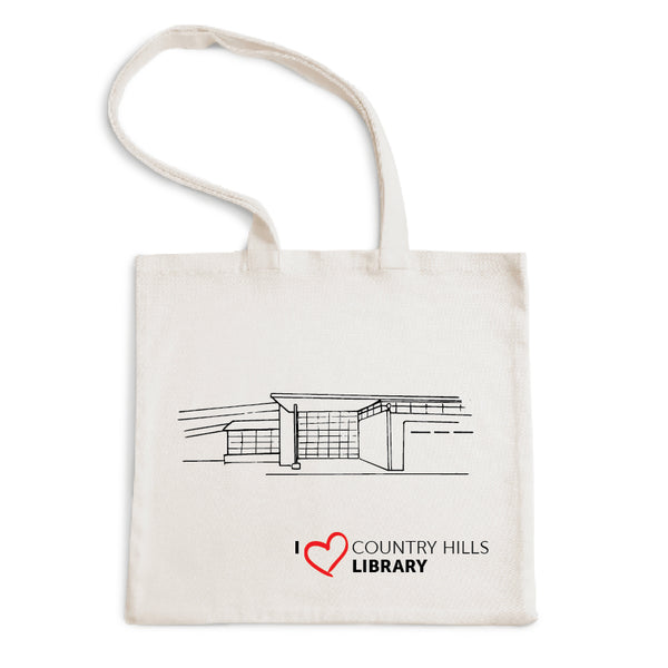 I Love Country Hills Library Tote Bag