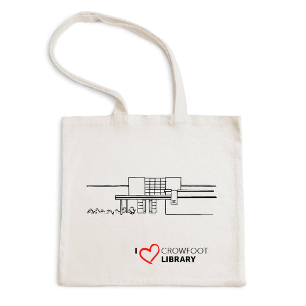 I Love Crowfoot Library Tote Bag