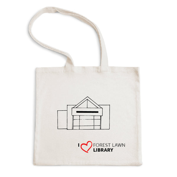 I Love Forest Lawn Library Tote Bag