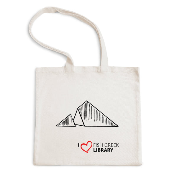 I Love Fish Creek Library Tote Bag