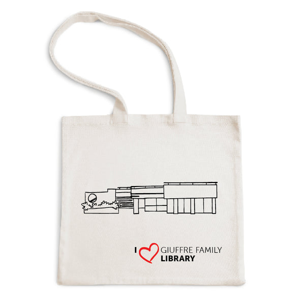 I Love Guiffre Family Library Tote Bag