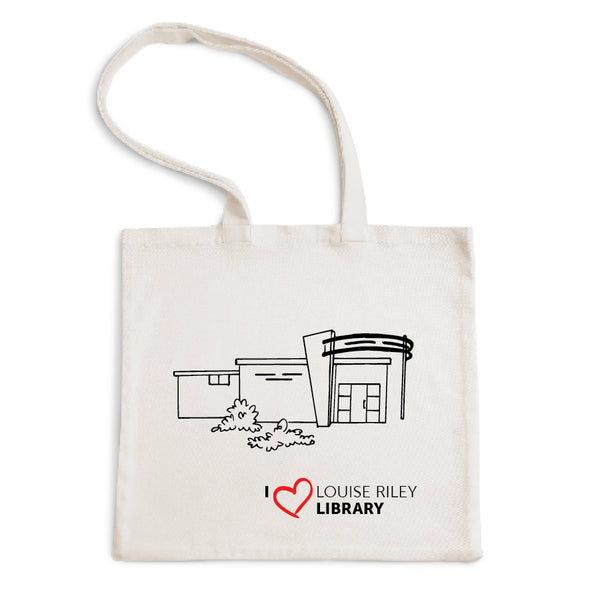 I Love Louise Riley Library Tote Bag