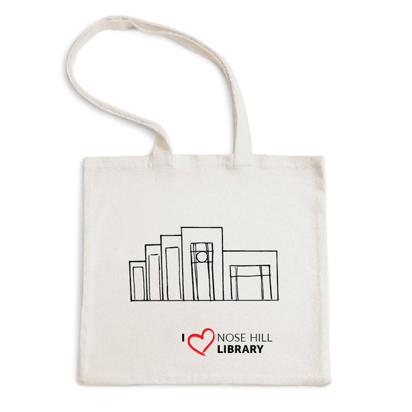 I Love Nose Hill Library Tote Bag