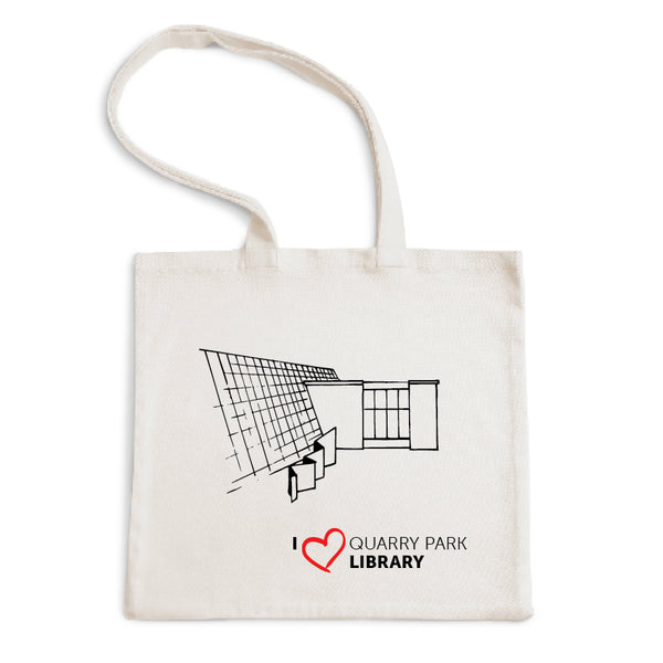 I Love Quarry Park Library Tote Bag