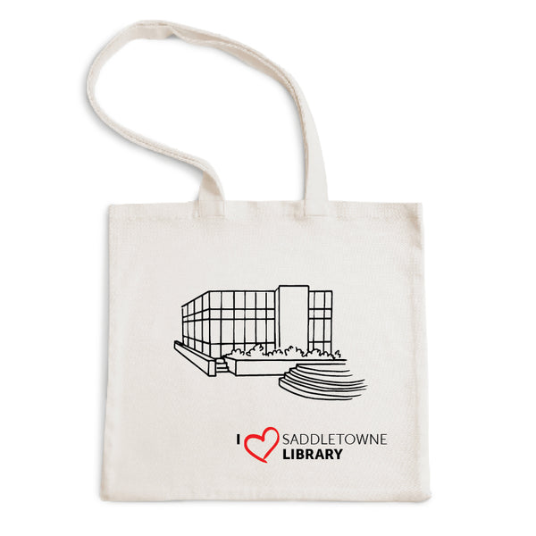 I Love Saddletowne Library Tote Bag