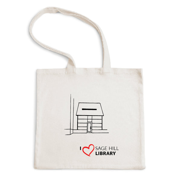 I Love Sage Hill Library Tote Bag