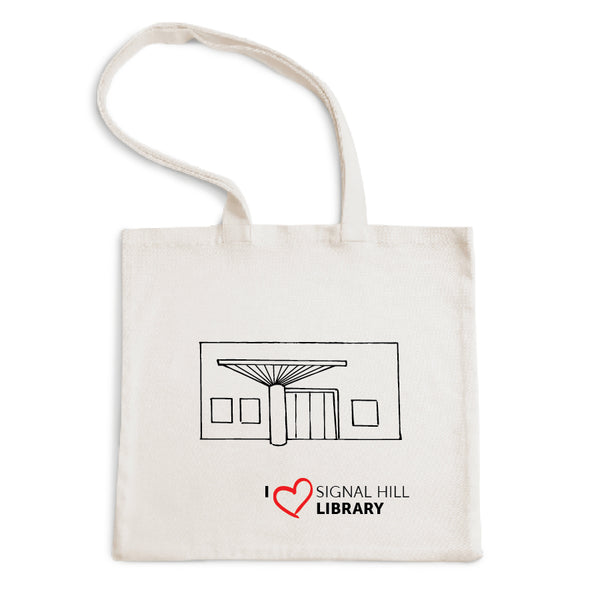 I Love Signal Hill Library Tote Bag