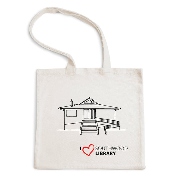 I Love Southwood Library Tote Bag