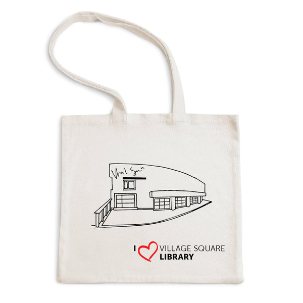 I Love Village Square Library Tote Bag