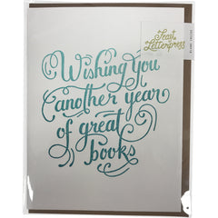 Greeting Card: Wishing you another year of great books - Calgary Public Library Store