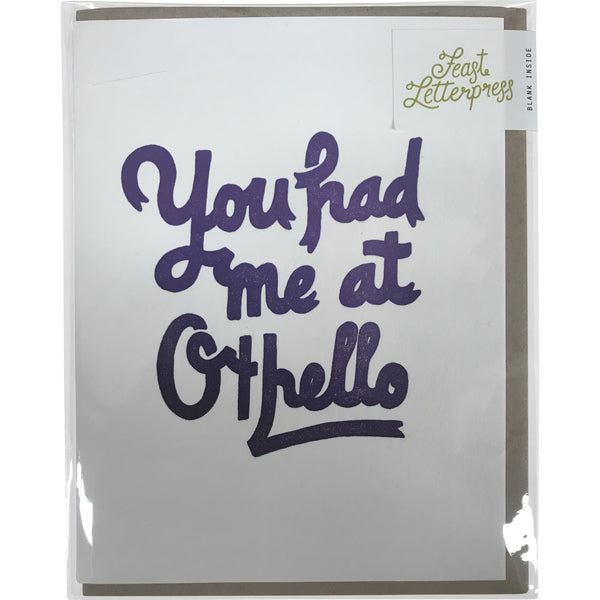 Greeting Card: You had me at Othello