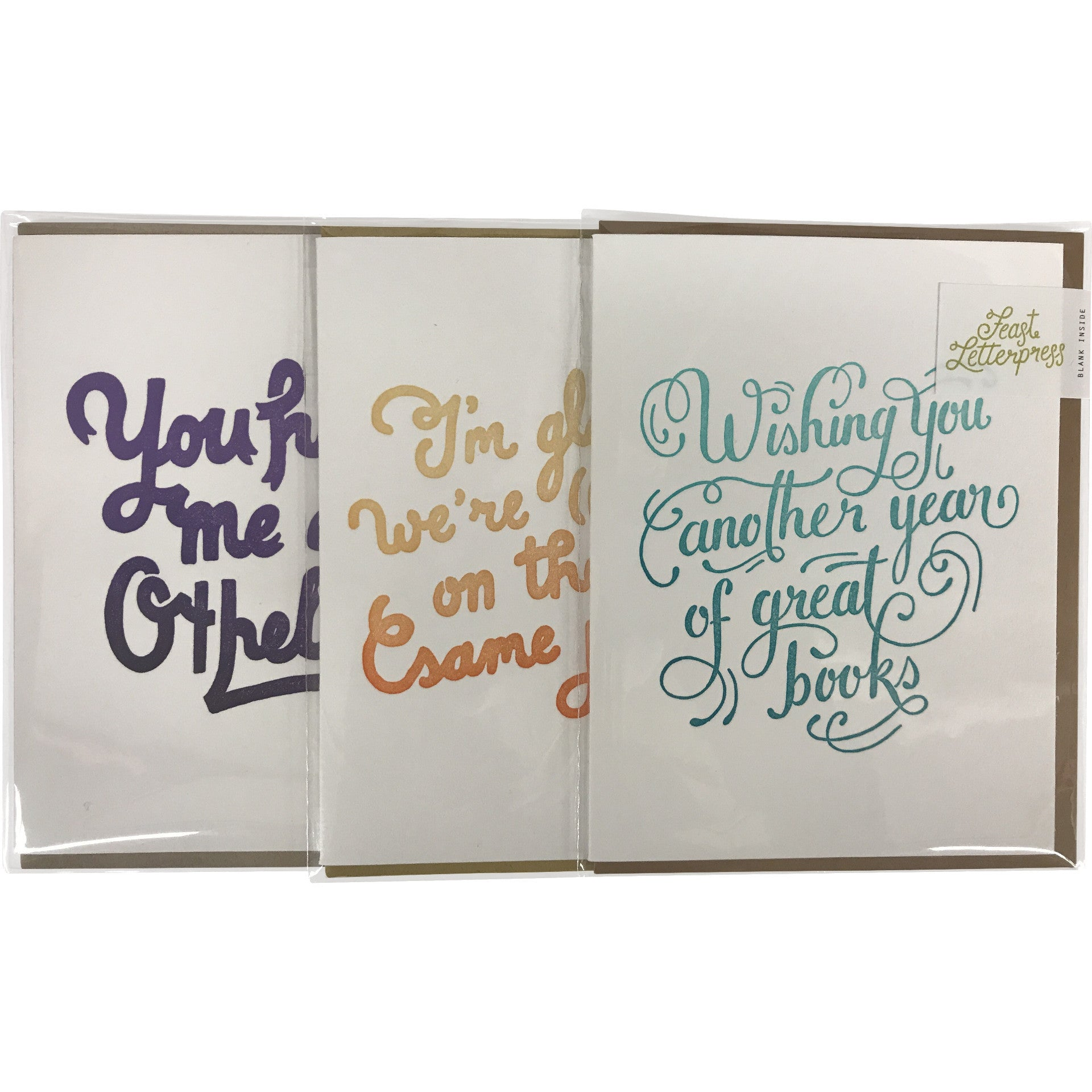 Greeting Card Wishing You Another Year Of Great Books