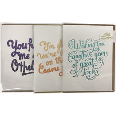 Greeting Card: I'm glad we're (mostly) on the same page - Calgary Public Library Store
