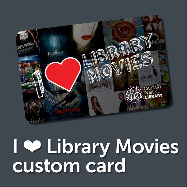 Custom Movie Themed Library Card