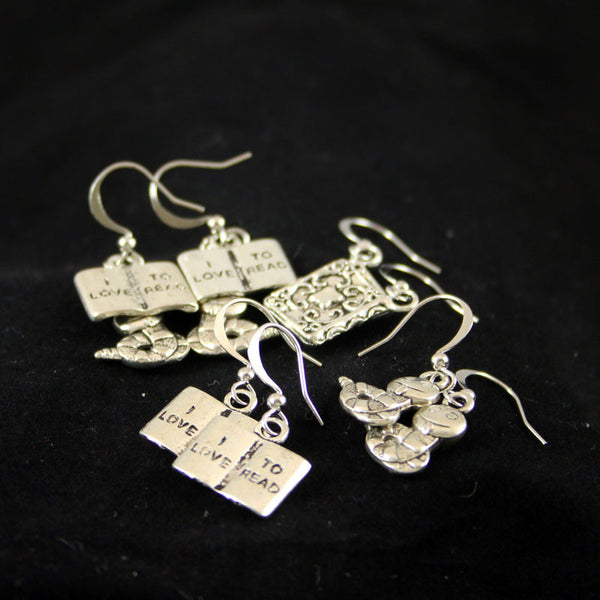 Library Earrings