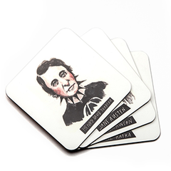 Punk Rock Authors Coaster Set - Calgary Public Library Store