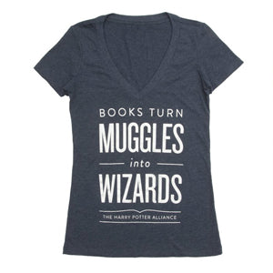 Books Turn Muggles Into Wizards T-Shirt - Women's