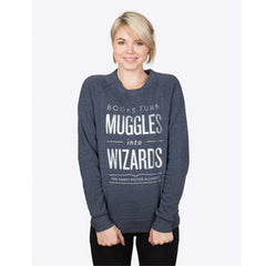 Books Turn Muggles into Wizards Sweater - Calgary Public Library Store