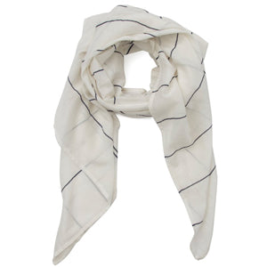 Library Card Scarf - White