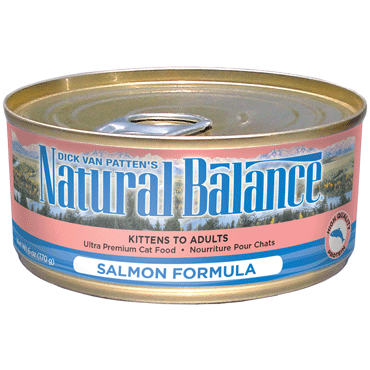 Natural Balance Cat Food | Salmon Formula | 5.5 oz. Cans (Case of 24)