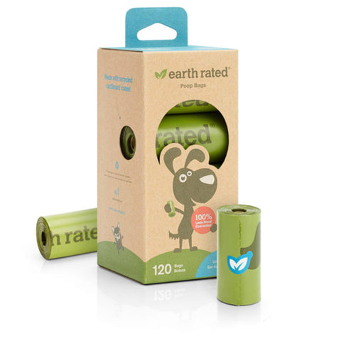 Earth Rated Poop Bags | 120 Bags on Rolls | Refill Pack