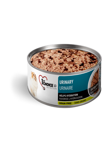 1st Choice Premium Adult Cat Food | Urinary Health Grain-Free Formula | Chicken Stew | 5.5 oz. Can