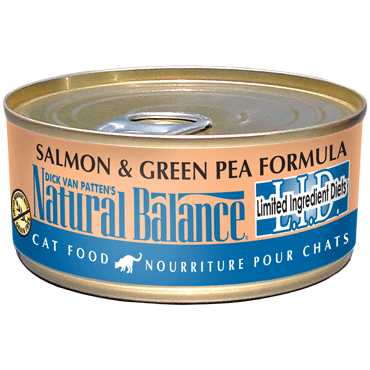 Natural Balance Cat Food | Limited Ingredient Grain-Free Diet | Salmon & Green Pea Formula | 5.5 oz. Cans (Case of 24)