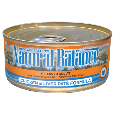 Natural Balance Cat Food | Chicken & Liver Pate Formula | 5.5 oz. Can (Case of 24)