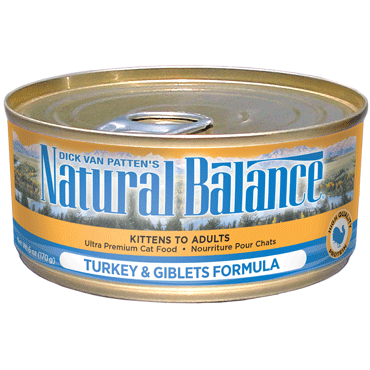 Natural Balance Cat Food | Turkey & Giblets Formula | 5.5 oz. Cans (Case of 24)