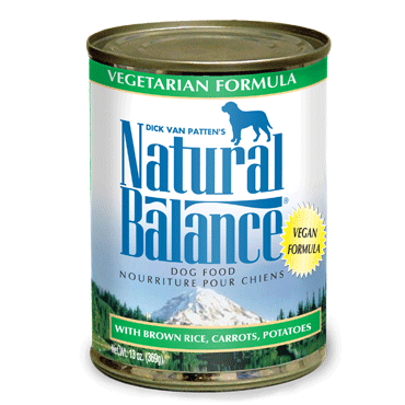 Natural Balance Premium Canned Dog Food | Vegetarian Formula | 13 oz. Cans (Case of 12)