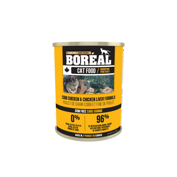 Boreal Premium Canned Cat Food | Cobb Chicken and Chicken Liver