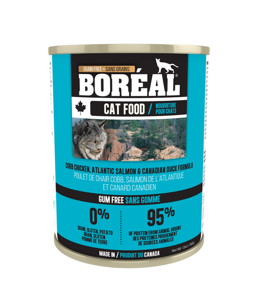 Boreal Premium Canned Cat Food | Cobb Chicken, Canadian Duck & Atlantic Salmon