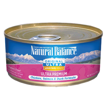 Natural Balance Cat Food | Chicken, Salmon & Duck Flavour | Ultra Premium Formula | 5.5 oz. Cans (Case of 24)