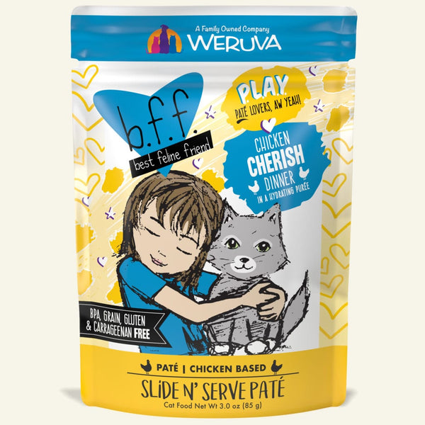 Weruva Premium Cat Food | Chicken Cherish Grain-Free Pate | 85 g Pouch