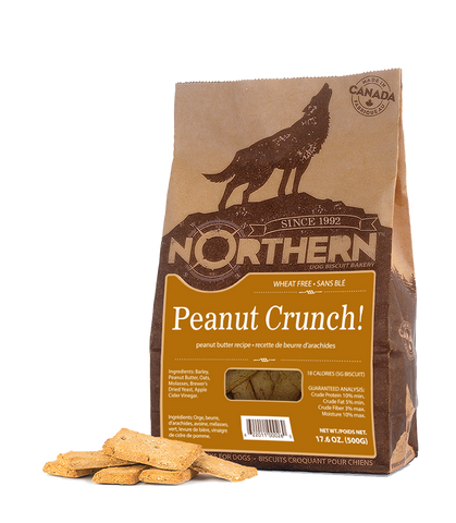 Northern Premium Dog Biscuits | Peanut Crunch Recipe | 500g Pack