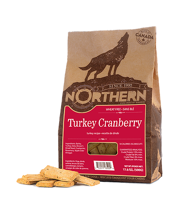 Northern Premium Dog Biscuits | Turkey Cranberry Recipe | 500g Pack