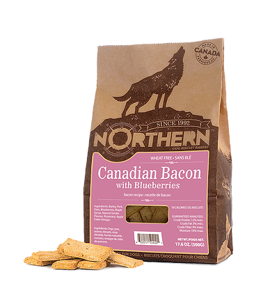 Northern Premium Dog Biscuits | Canadian Bacon with Blueberries Recipe