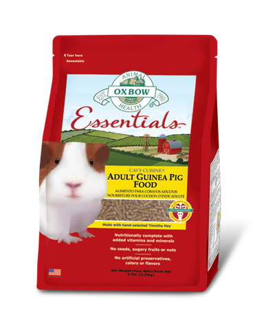Oxbow Essentials Adult Guinea Pig Food packaging