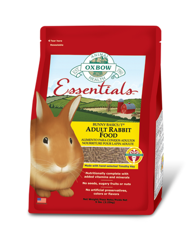 Oxbow Essentials Adult Rabbit Food packaging