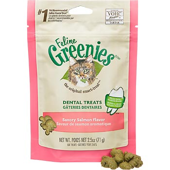 Greenies Feline Dental Treats | Salmon Flavour
